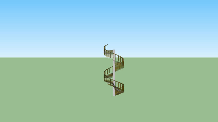 Spiral stair (wood)
