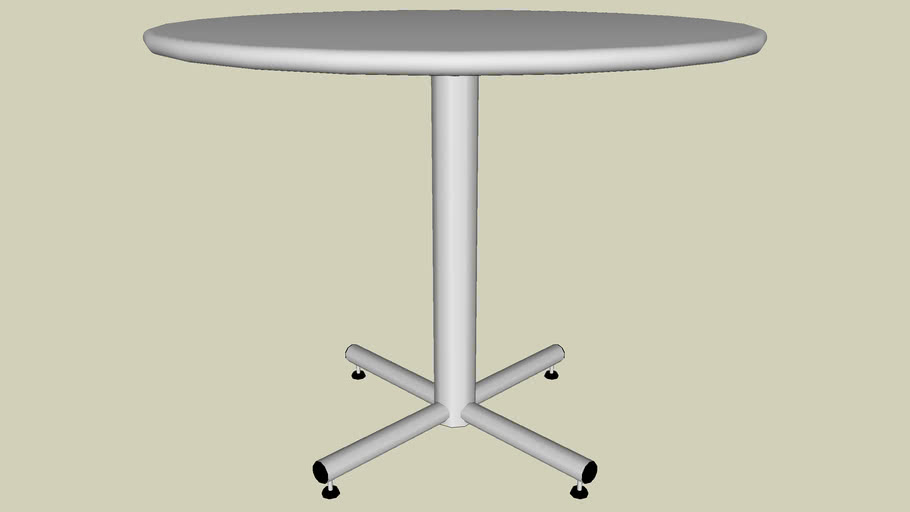 "Forms+Surfaces® Cross Table, 36"" round table top, 24"" base"