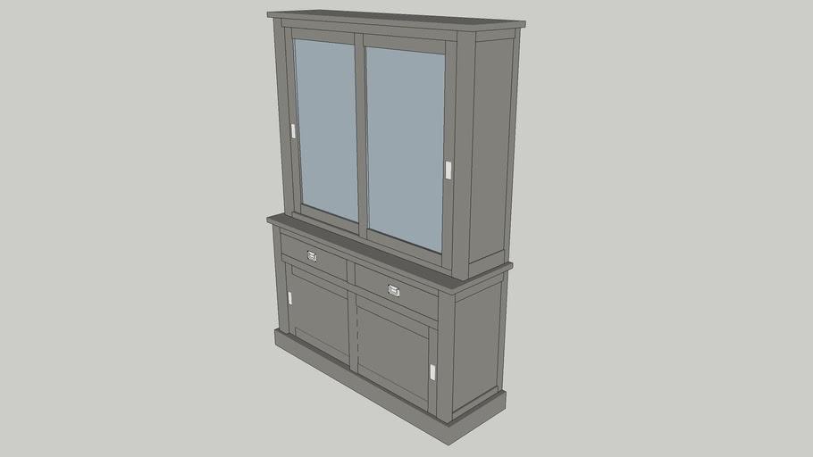 SLIDING DOOR CABINET BOXX 2 × 2-DOORS 2 DRAWERS 1302
