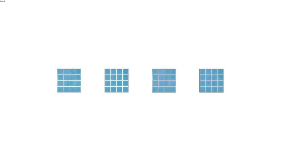 AZUL ILHABELA 7,5X7,5 TEL - PORTOBELLO
