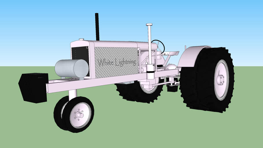 Pulling tractor white lightning