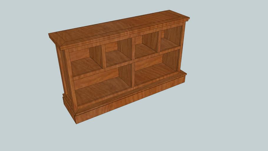 Low Cherry Bookcase