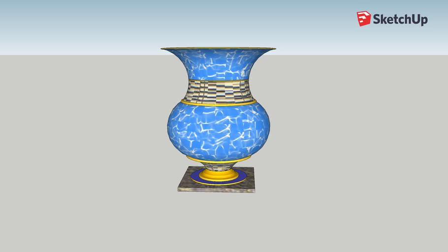 Blue Gold Urn