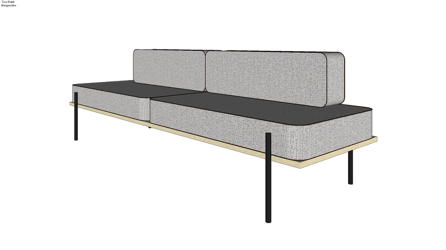 Banquette Sofa With Thin Steel Leg