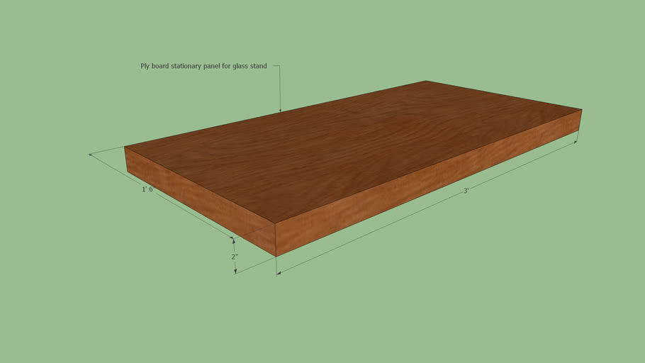 Ply board stationary panel for glass stand