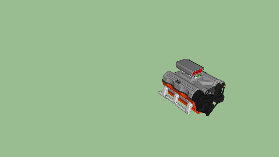 chevy 350 engine/w blower