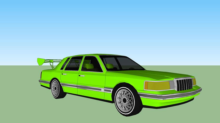 voiture tunning verte