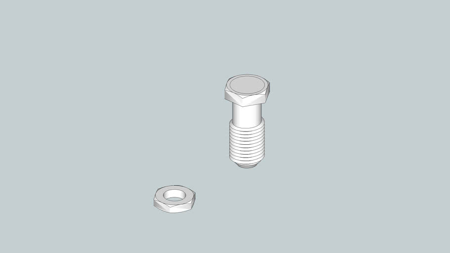 Screw thread and nut