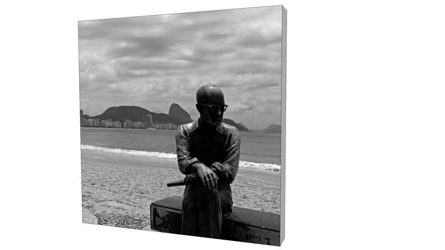 Quadro Dorival Moreira - Coleção Rio de Janeiro: Carlos Drummond