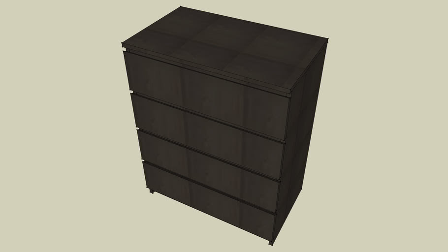 Ikea Malm Chest with 4 Drawers