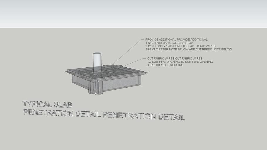 Typical Slab Penetration