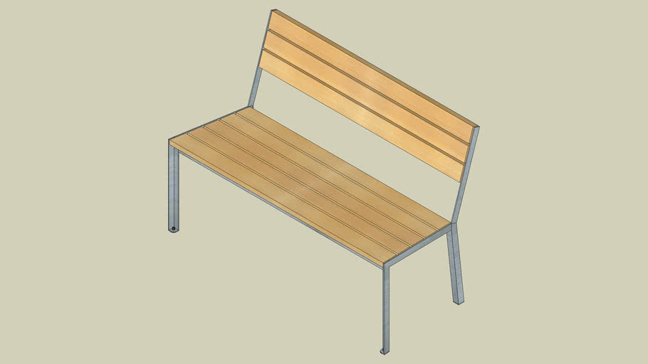 A11 12 3 40 light bench 120 without armrests