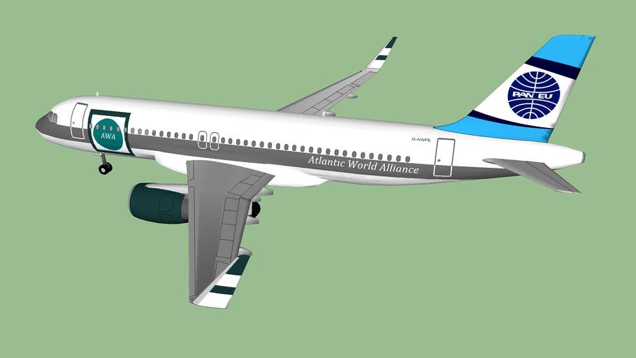 Pan European Airbus A320-216 Atlantic world alliance Livery G-AWPE