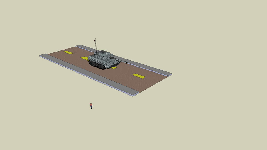 tank on a road