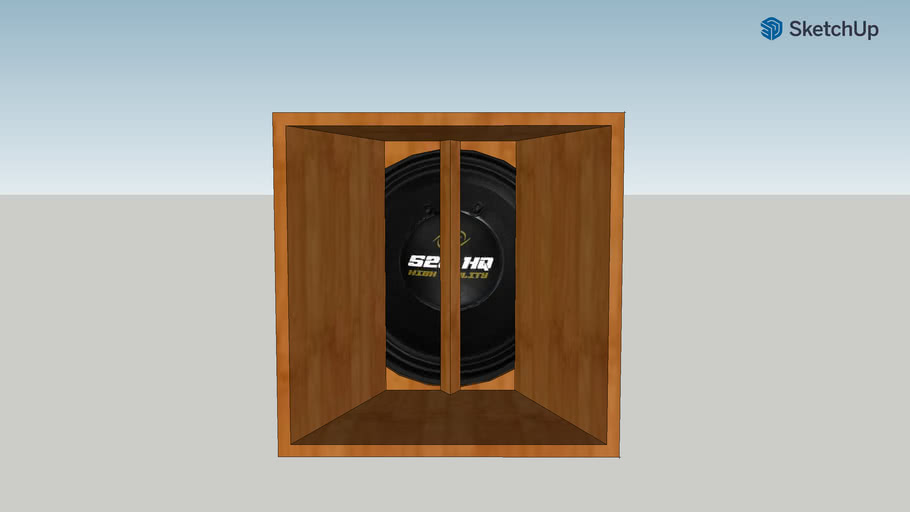 """caixa estranho (Eap) 10"""" + médio 520hq"""