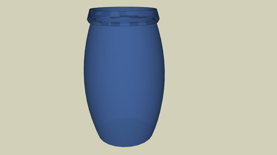 blue glass - vaso azul