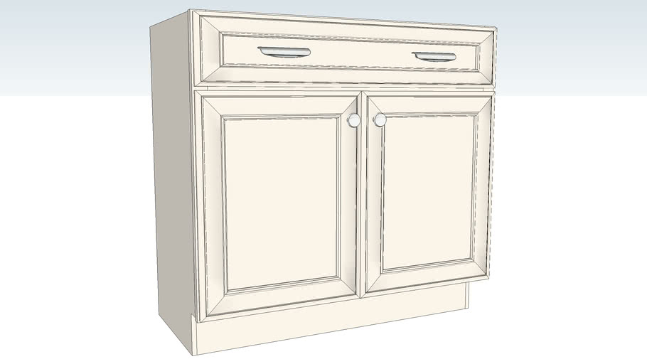 Vanity Base Double Door