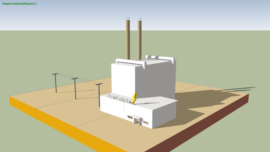 implosion of a powerplant