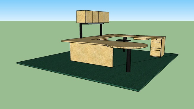 CSUC SSC typical workstation with conference table