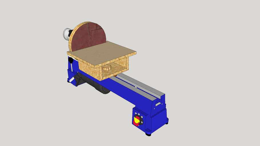 Disc sander for benchtop wood lathe
