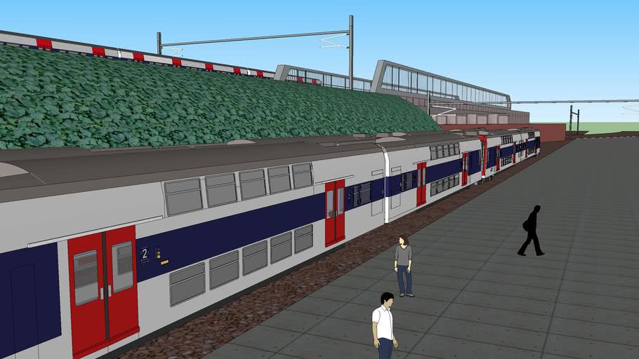 Depot de la SNCF avec voie ferre
