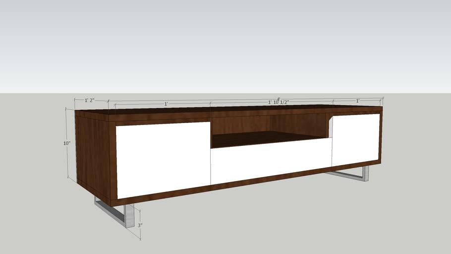 Modern Tv Stand 3d Warehouse