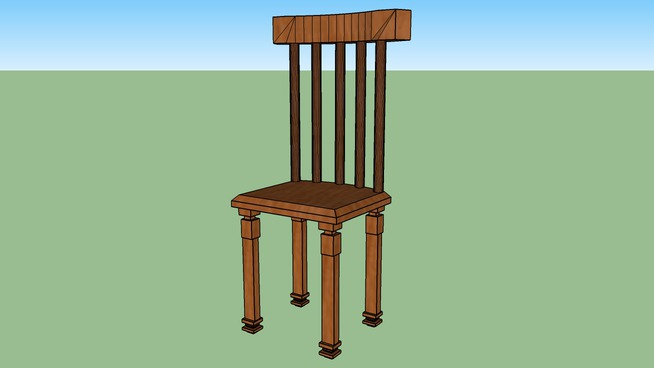 A Simple Wooden Chair