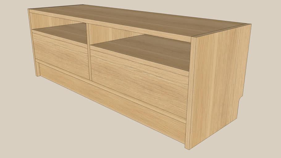 BENNO oak TV bench