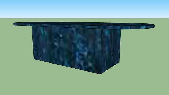 Blue Marmer Table
