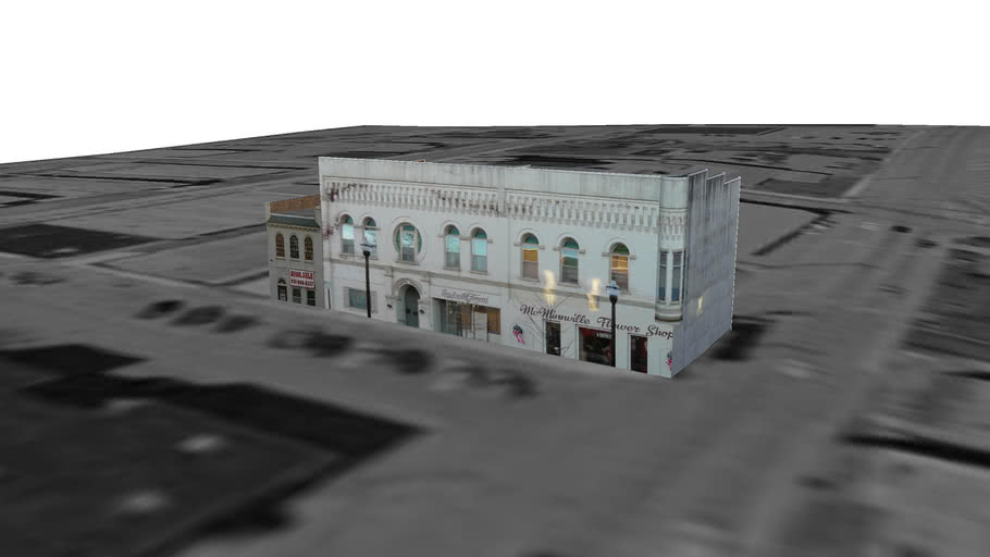 Hillis Building, Continental Apartments, and McMinnville Flower Shop
