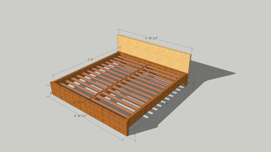 DIY Euro Style King Size Bed Design