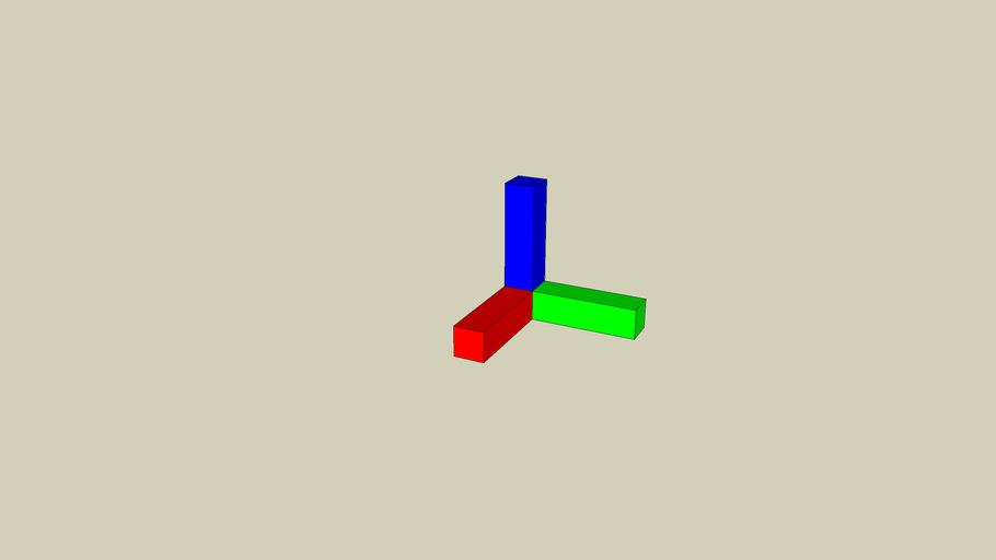 Small 3D Axis bar