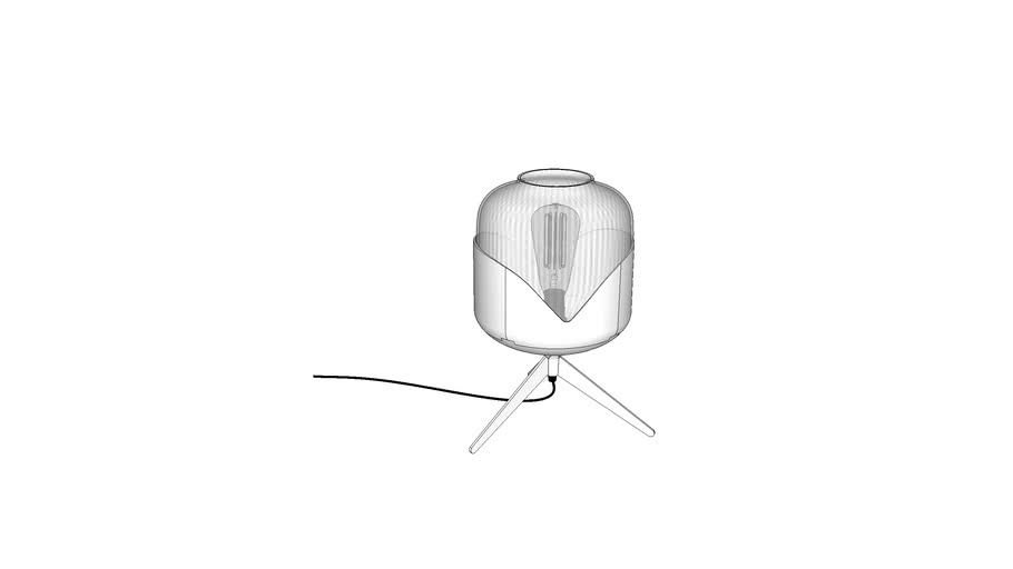51078 Table Lamp Chrome Goblet Ball