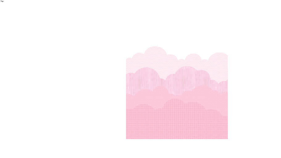 Painel nuvens rosa