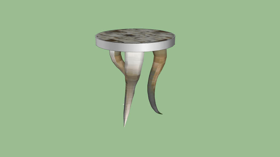 Glass Wood Dining Table, Z Gallerie Cheyenne Horn Table 3d Warehouse