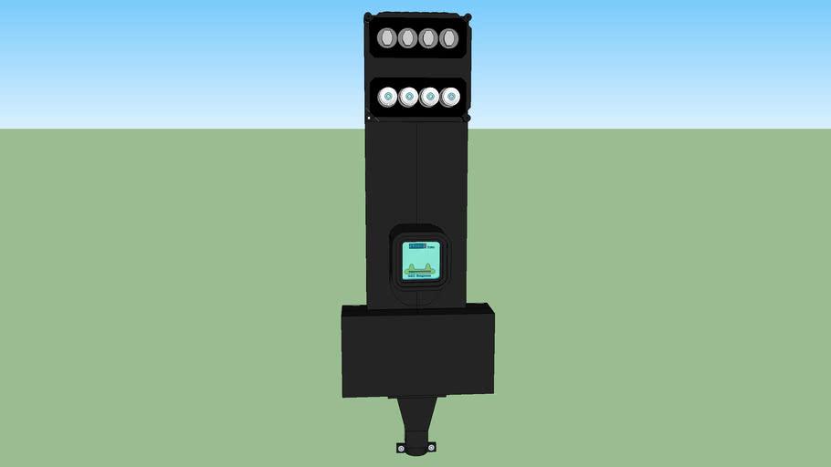 stoppenkast en stroommeter