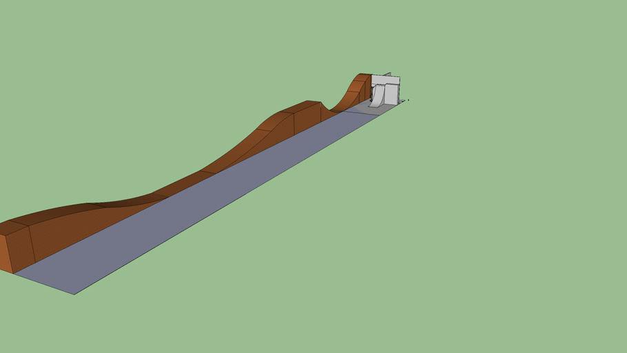 lange skatebaan