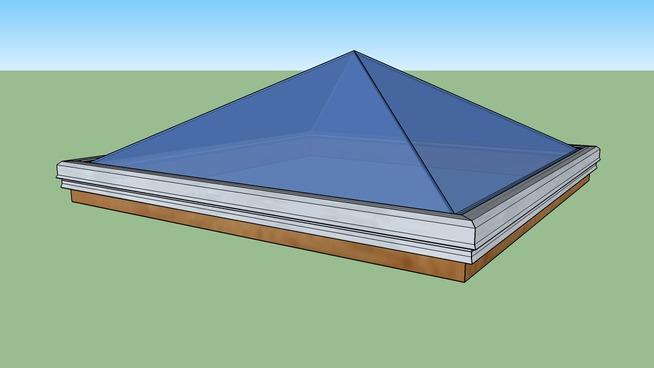 Pyramid Skylight by Kingspan Light + Air (Bristolite AL/ALT model)