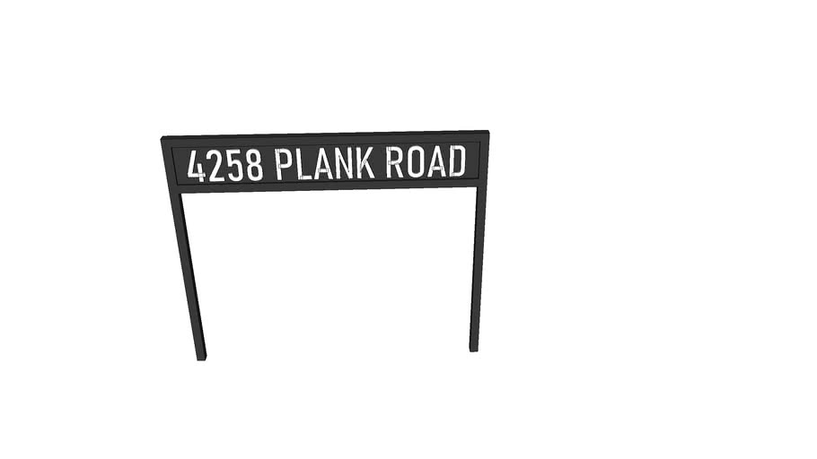 Plank Road Entry Sign