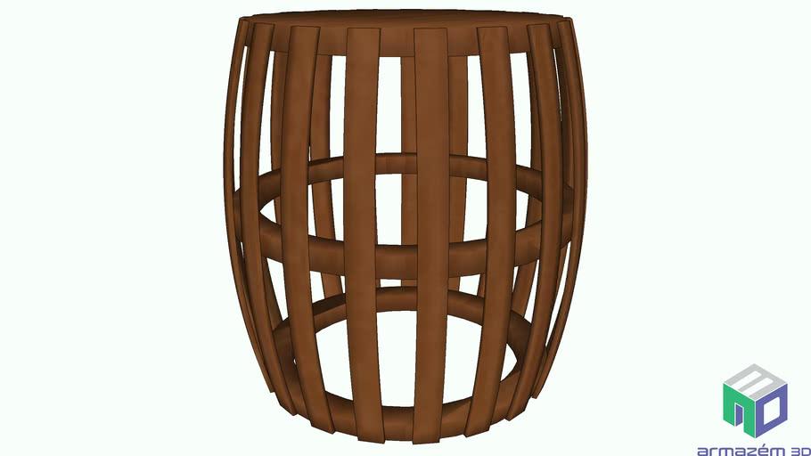 banco madeira pipa encosto