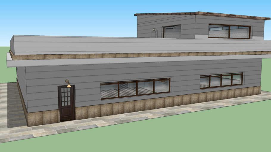 Casa De 2 Plantas Con Terraza 3d Warehouse