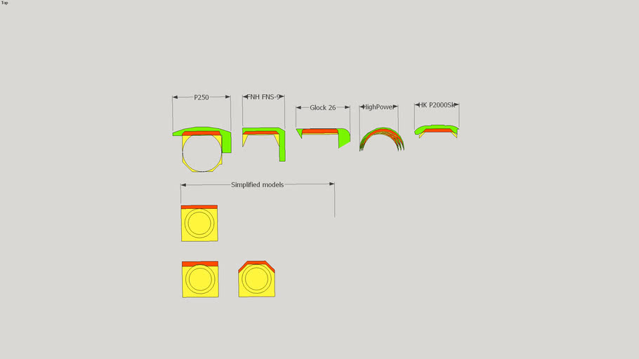 Design Study - Handgun Locking Lug Contact Area