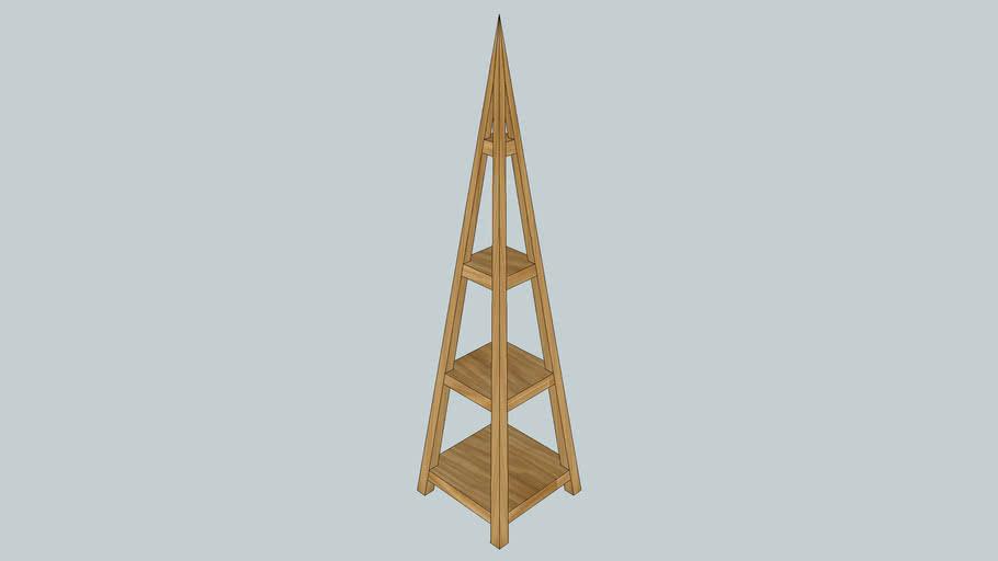 Estanteria piramidal