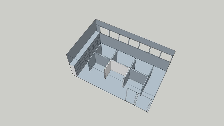 Pub Room Conference Room Center Seating for 6 Layout