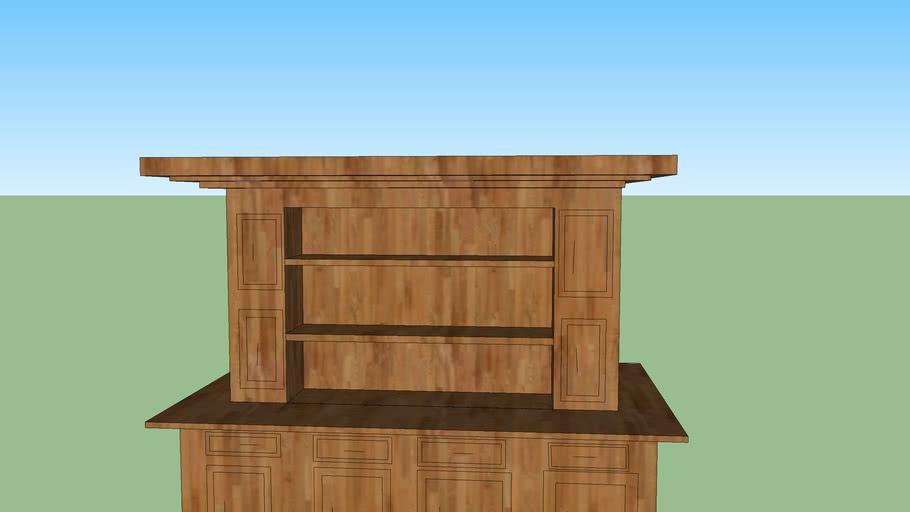 highly detailed  wardrobe/ bookshelf