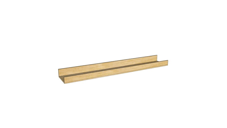 Mondeo Wall Shelf 60cm_Unfinished