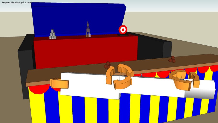 Carnival throwing gallery sketchyphysics