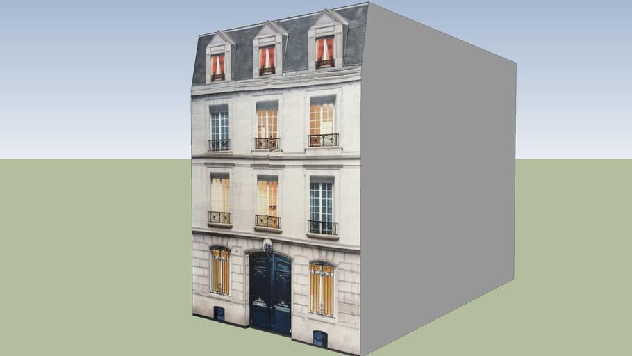 Pequeño edificio parisino