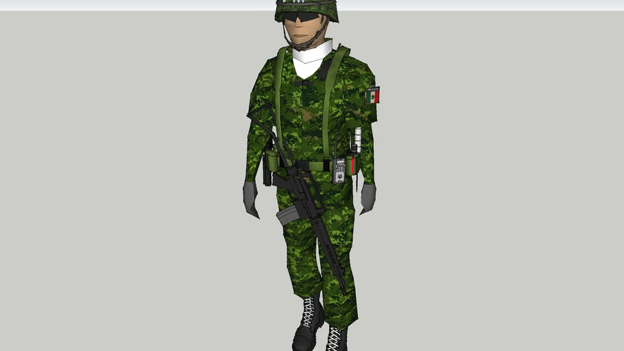 soldado  de la sedena de la policia militar de mexico