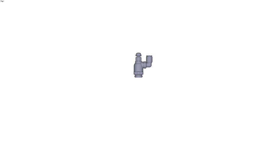 7041 - FLOW REGULATOR SWIVEL OUTLET SUPPLYBSP PARALLEL DIAM D 6 MM C G1/4